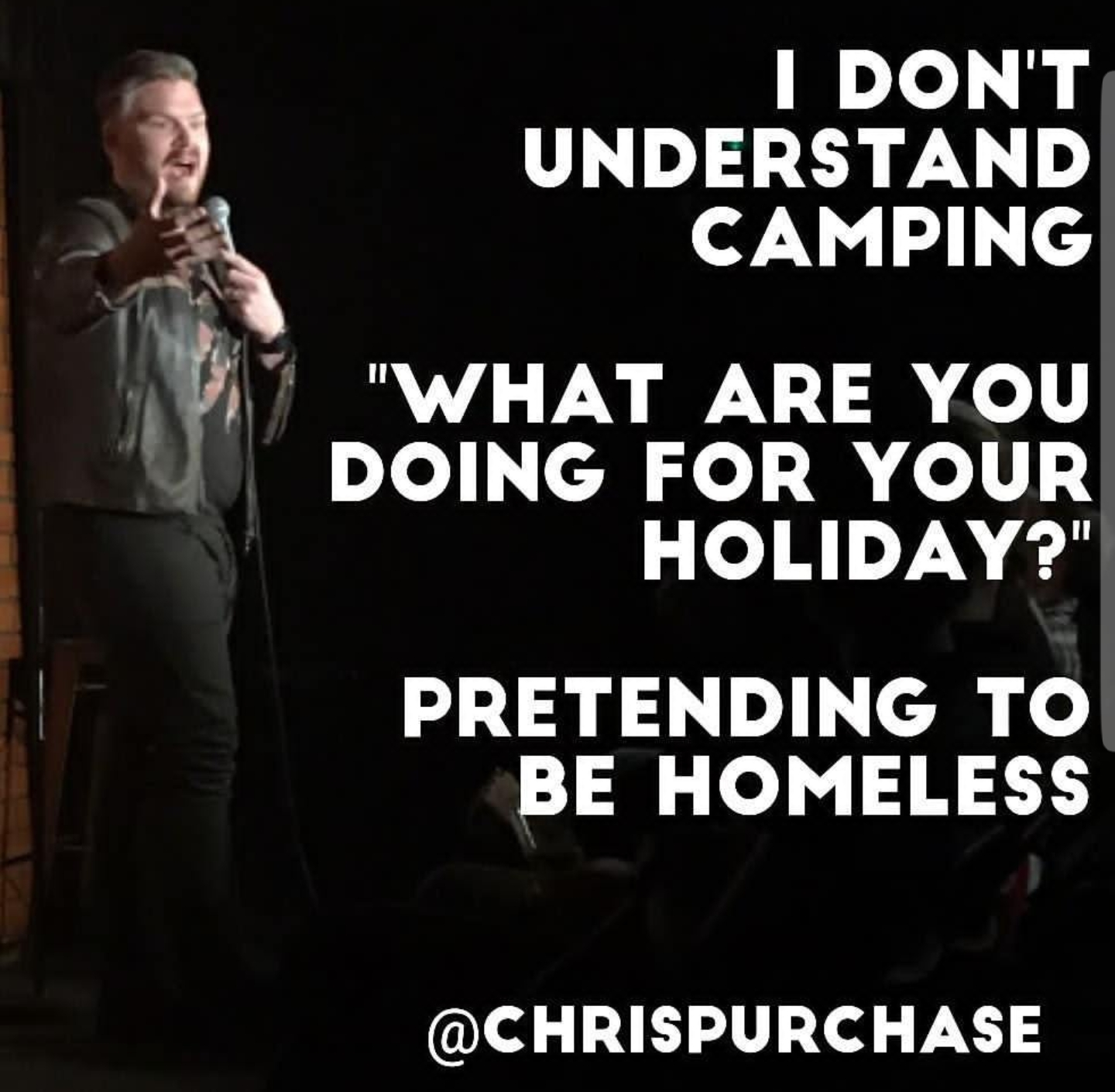 Chris Purchase on Camping